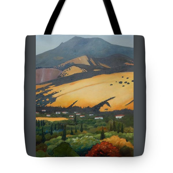 Mt. Diablo Above Tote Bag