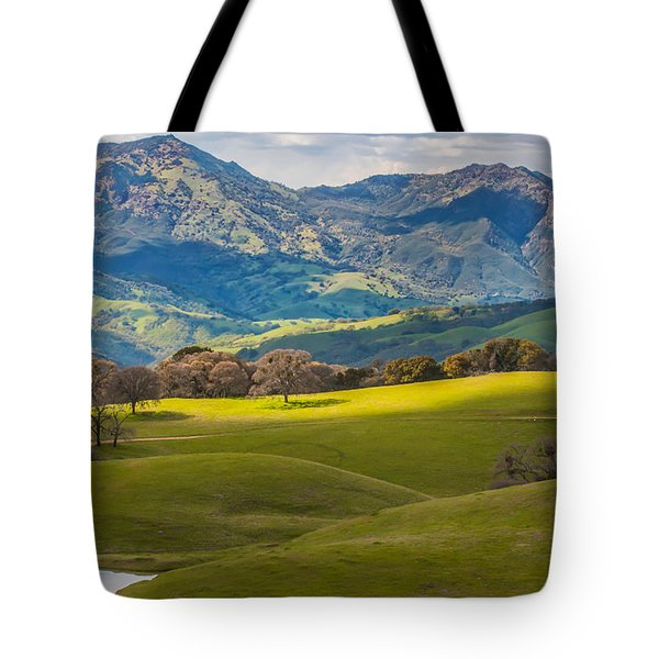Mt. Diablo On A Spring Afternoon Tote Bag by Marc Crumpler