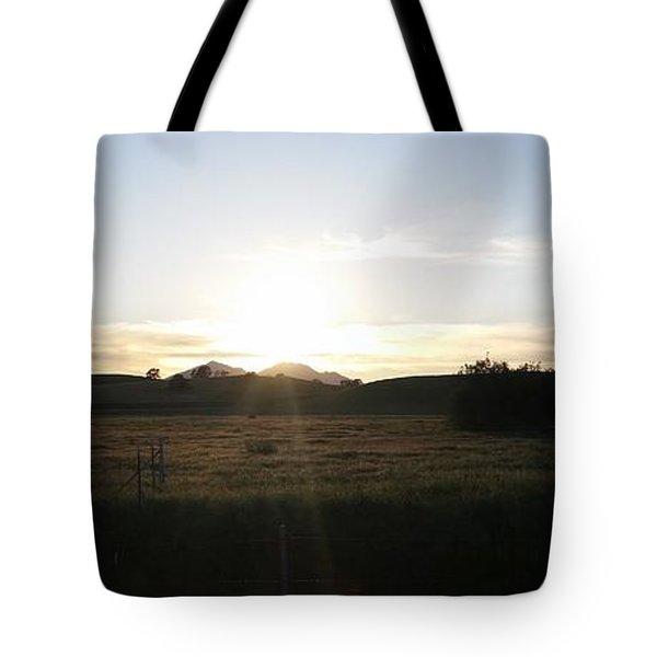 Mt. Diablo Sunset Tote Bag