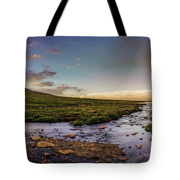 Mt. Evans Alpine Stream Tote Bag by Chris Bordeleau