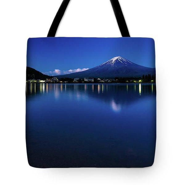 Mt Fuji - Blue Hour Tote Bag