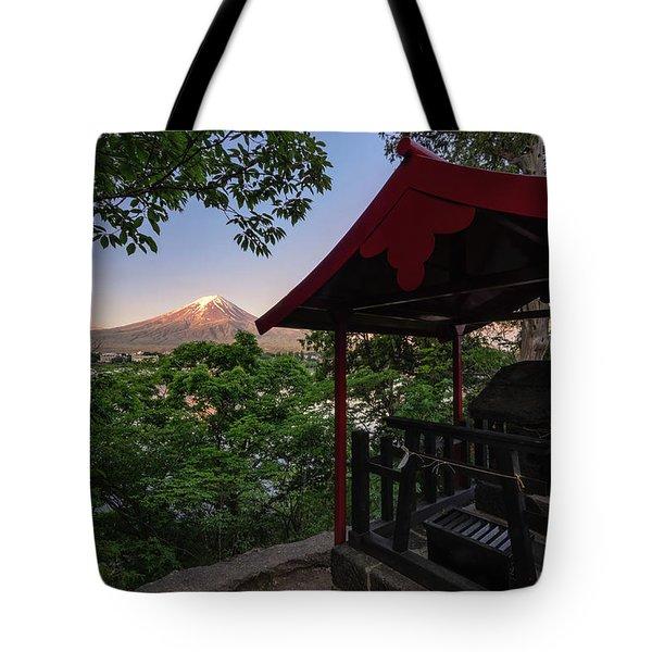 Mt Fuji From Ubuyagasaki Shrine Tote Bag