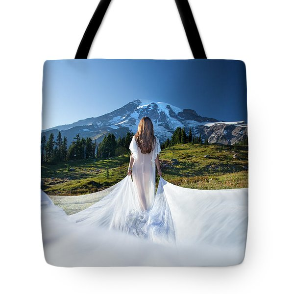 Mt Goddess Tote Bag by Dario Infini