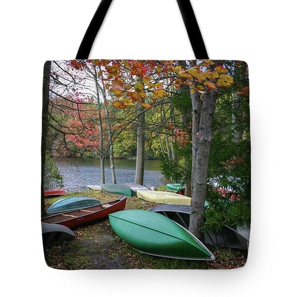 Mt. Gretna Canoes Tote Bag