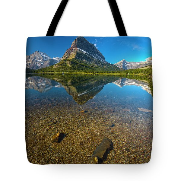 Tote Bag featuring the photograph Mt. Grinnell by Gary Lengyel
