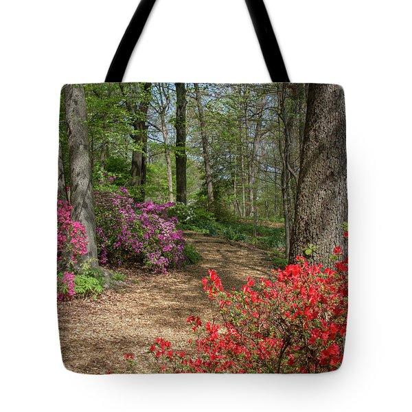 Tote Bag featuring the photograph Mt Hamilton Azaleas 4 by Chris Scroggins