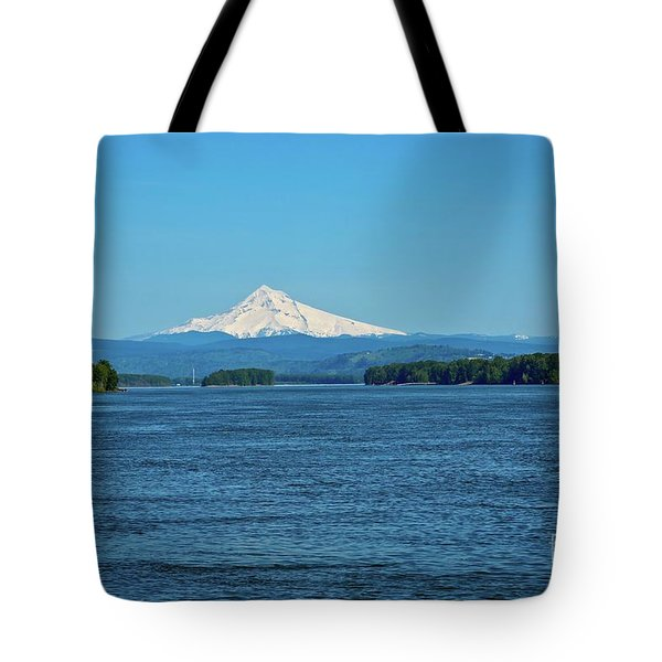 Mt. Hood Above The Columbia River Tote Bag