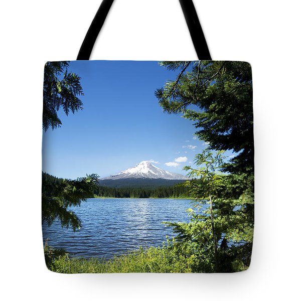 Tote Bag featuring the photograph Mt. Hood And Trillium Lake - Oregon by Charmian Vistaunet