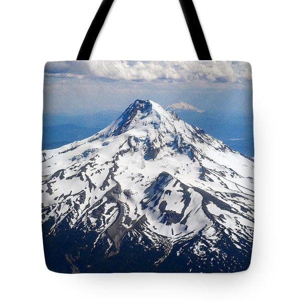 Mt. Hood From 10,000 Feet Tote Bag