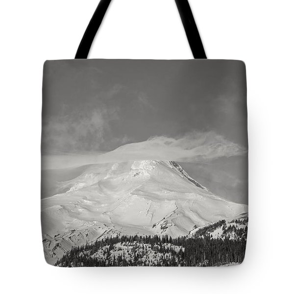 Mt Hood From White River Tote Bag