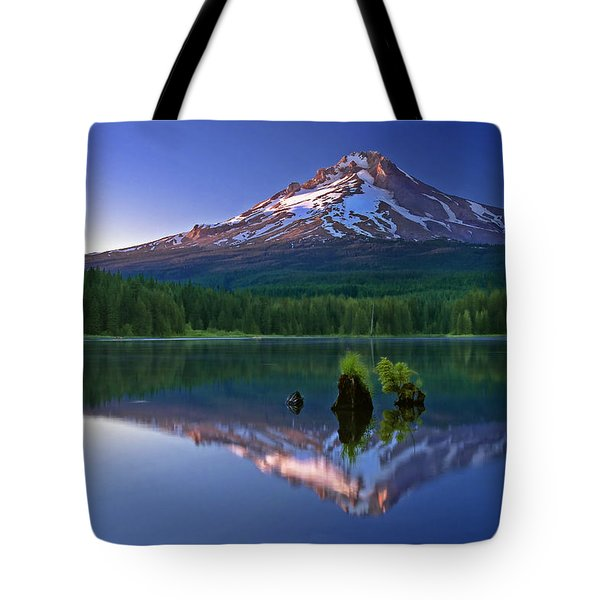 Mt. Hood Reflection At Sunset Tote Bag