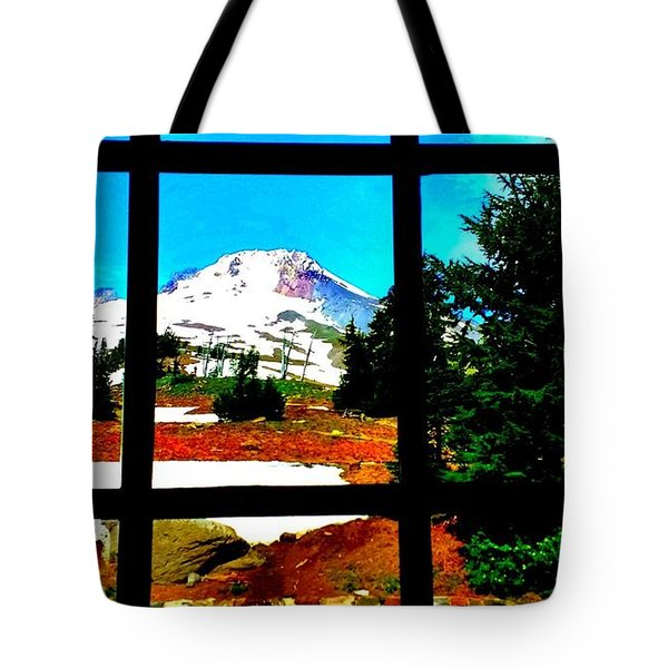 Mt. Hood View Tote Bag