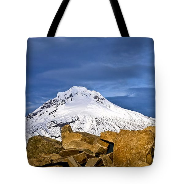 Mt Hood With Talus Tote Bag