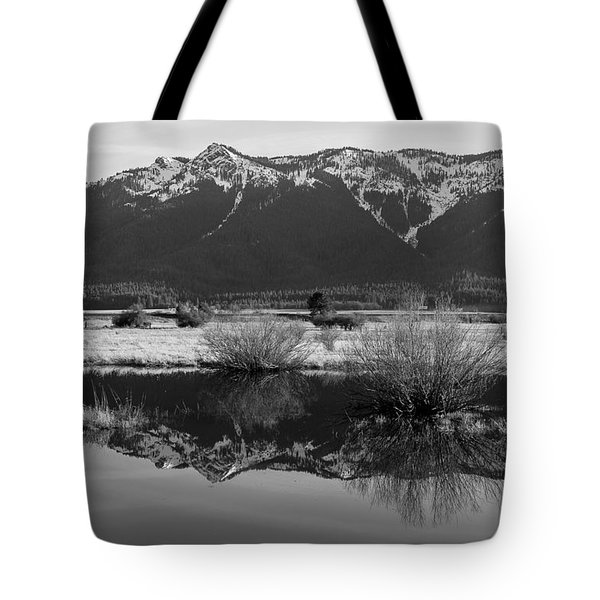 Tote Bag featuring the photograph Mt. Hough Reflection by Jan Davies