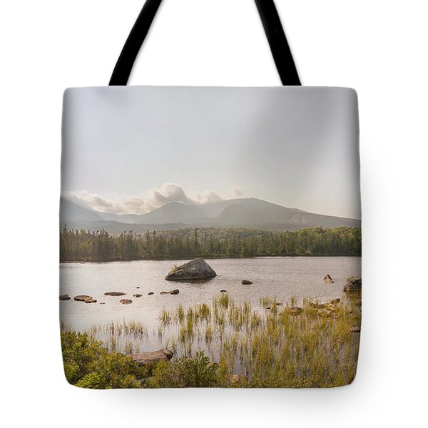Mt Katahdin Pano Tote Bag by Peter J Sucy