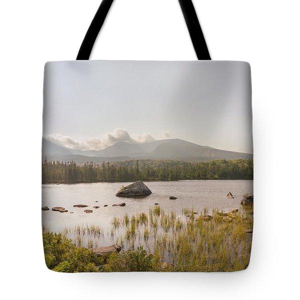 Mt Katahdin Pano Tote Bag