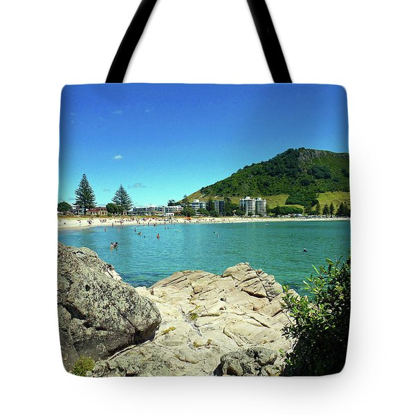 Mt Maunganui Beach 13 - Tauranga New Zealand Tote Bag by Selena Boron