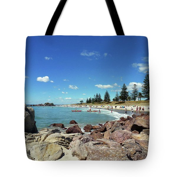 Mt Maunganui Beach 3 - Tauranga New Zealand Tote Bag by Selena Boron