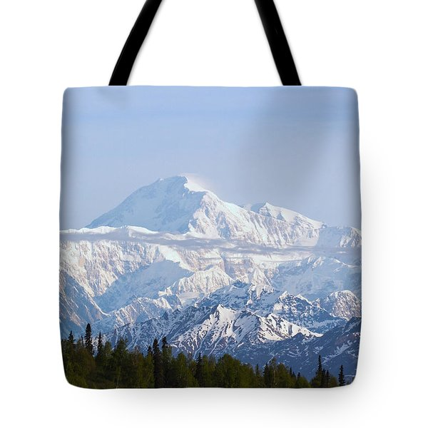 Denali Cloud Line Tote Bag by Allan Levin