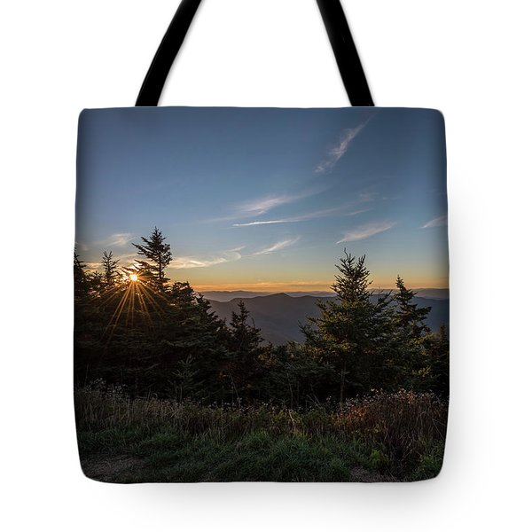 Mt Mitchell Sunset North Carolina 2016 Tote Bag by Terry DeLuco