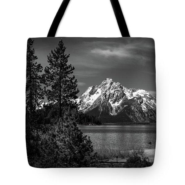 Mt. Moran And Trees Tote Bag