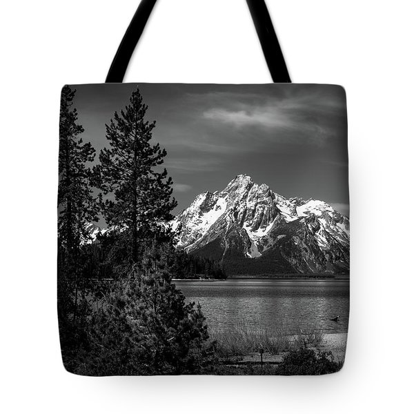Mt. Moran And Trees Tote Bag