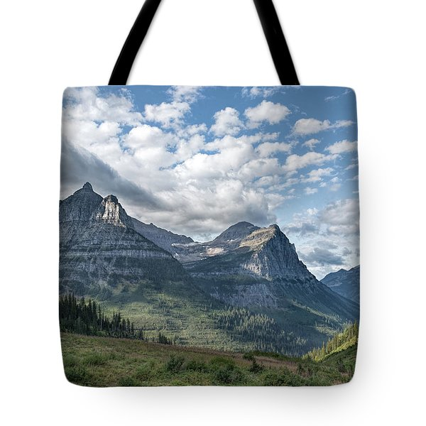 Mt. Oberlin From Logan Pass Tote Bag