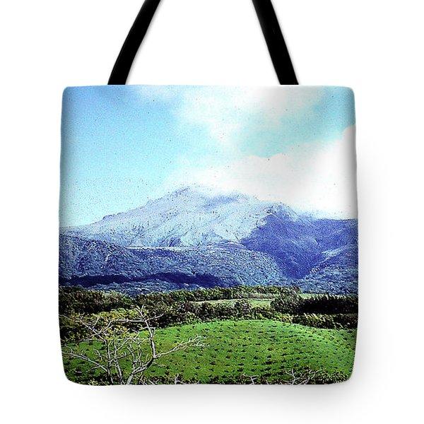 Tote Bag featuring the photograph Mt. Pele, Martinique by Merton Allen