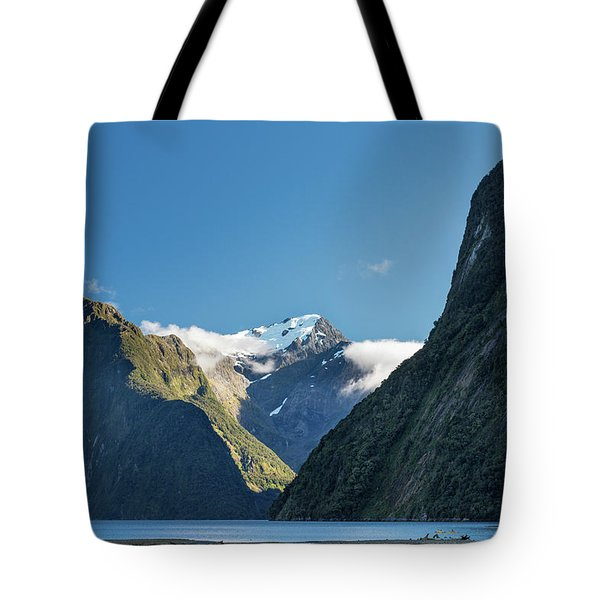 Tote Bag featuring the photograph Mt Pembroke Glacier by Gary Eason