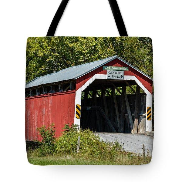 Mt. Pleasant Covered Bridge Tote Bag