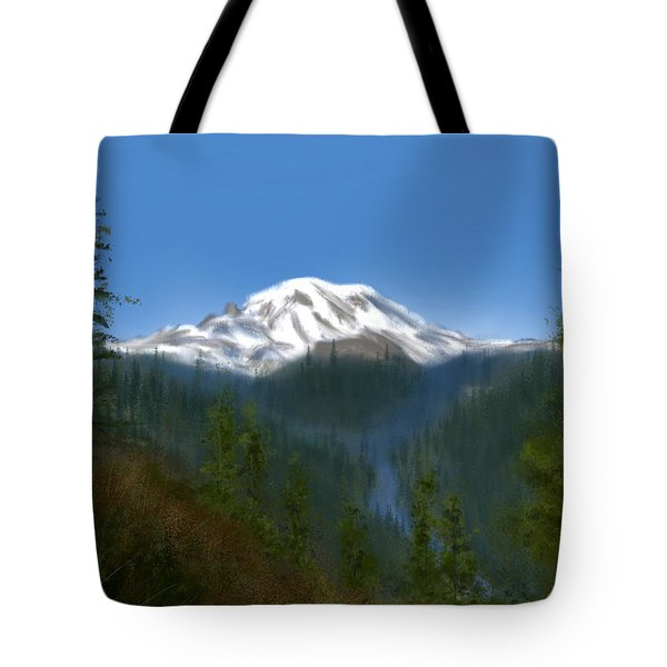 Mt Rainier Tote Bag
