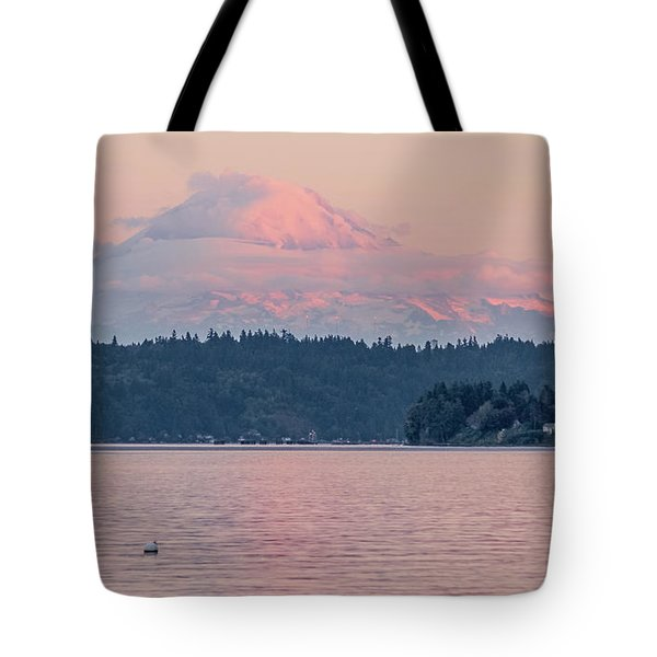 Mt. Rainier At Sunset Tote Bag
