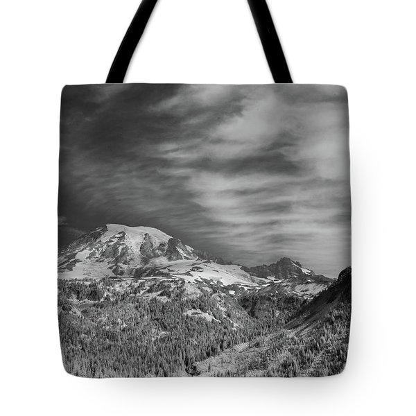 Tote Bag featuring the photograph Mt. Rainier by Bob Cournoyer