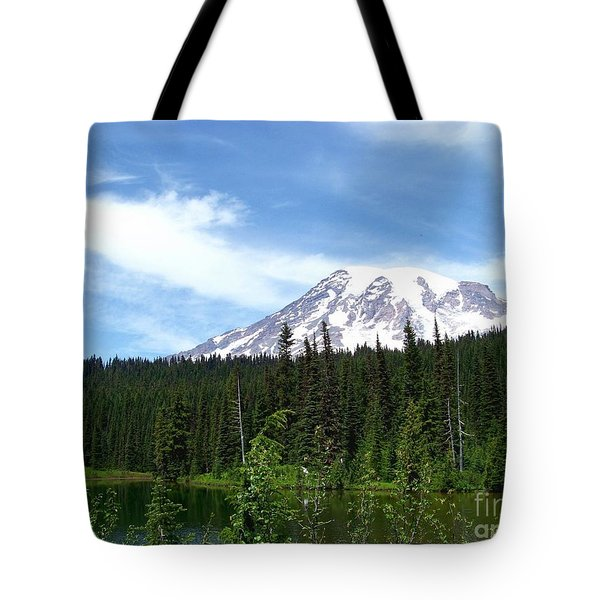 Tote Bag featuring the photograph Mt. Rainier by Charles Robinson