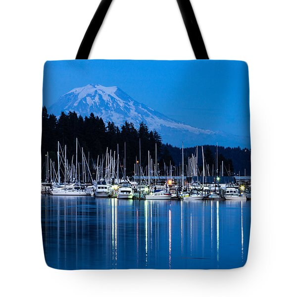 Mt. Rainier From Gig Harbor Tote Bag