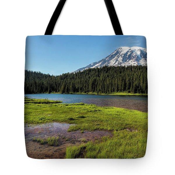 Mt Rainier From Reflection Lake, No. 2 Tote Bag