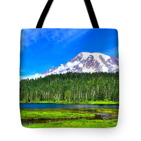 Mt. Rainier From Reflection Lakes Tote Bag