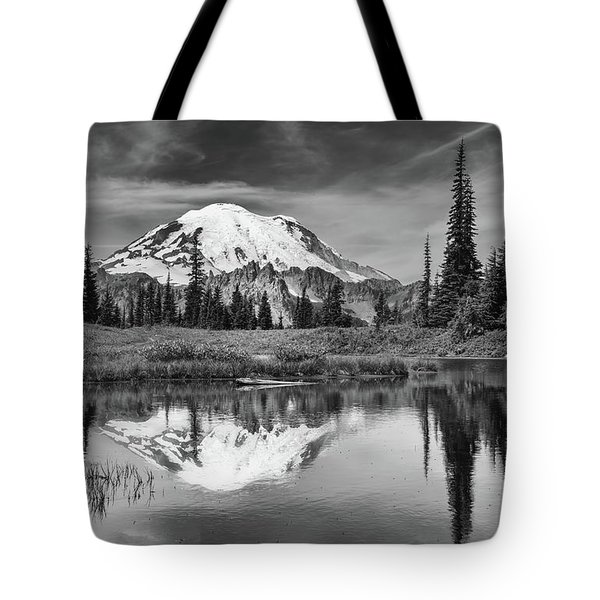 Mt Rainier In Reflection Tote Bag