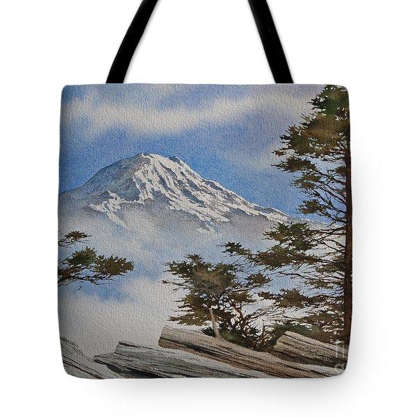 Mt. Rainier Landscape Tote Bag by James Williamson