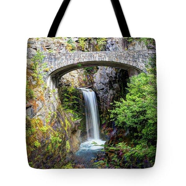 Mt Rainier National Park, Christine Falls Tote Bag