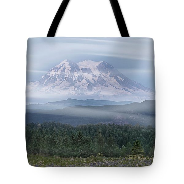 Mt. Rainier Tote Bag by Patti Deters