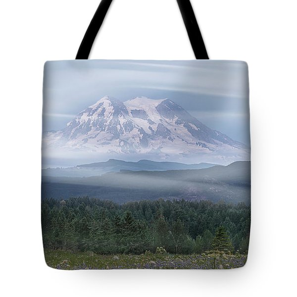 Tote Bag featuring the photograph Mt. Rainier by Patti Deters