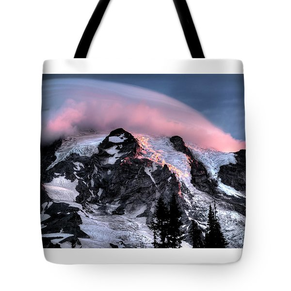 Mt Rainier Sunrise Fine Art Photograph Tote Bag