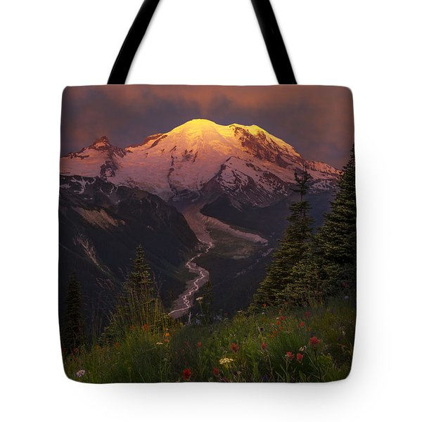 Mt. Rainier Sunrise Tote Bag