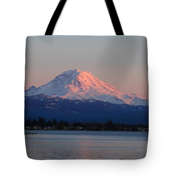 Mt Rainier Sunset Tote Bag