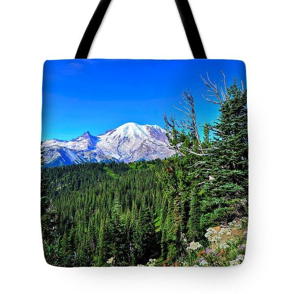 Mt. Rainier Wildflowers Tote Bag