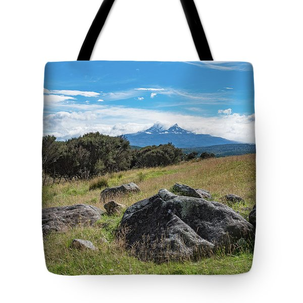 Tote Bag featuring the photograph Mt Ruapehu View by Gary Eason