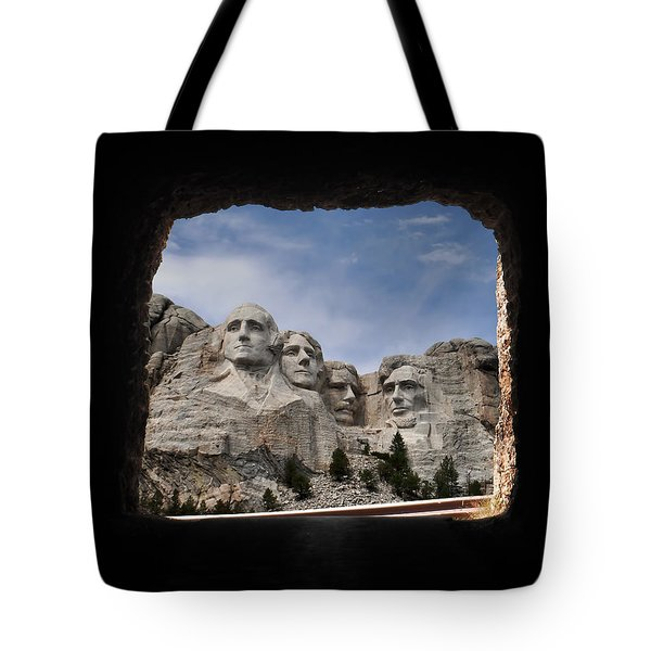 Tote Bag featuring the photograph Mt Rushmore Tunnel by David Lawson