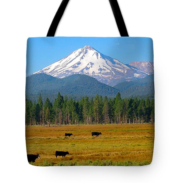Mt. Shasta Morning Tote Bag