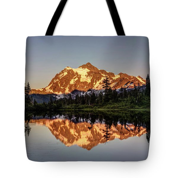 Mt Shuksan Reflection Tote Bag
